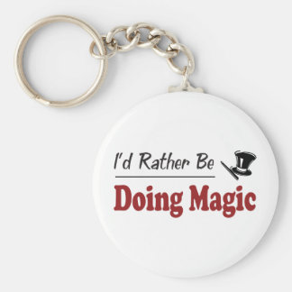 Rather Be Doing Magic Basic Round Button Key Ring