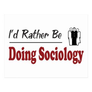 Rather Be Doing Sociology Postcard