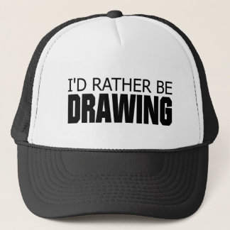 Rather be Drawing Trucker Hat