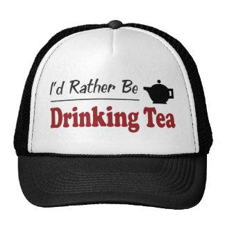 Rather Be Drinking Tea Cap
