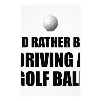 Rather Be Driving Golf Balls Custom Stationery