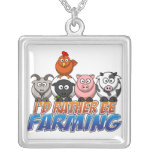 Rather Be Farming Online Gaming  Necklace