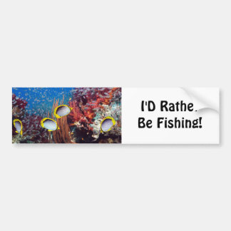 Rather Be Fishing Bumper Sticker