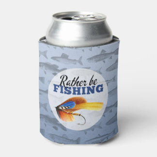 Rather Be Fishing Custom Can Cooler