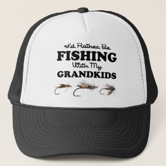 Rather Be Fishing Grandkids Trucker Hat