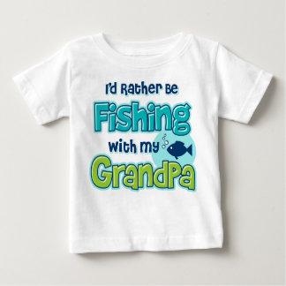 Rather Be Fishing Grandpa Baby T-Shirt