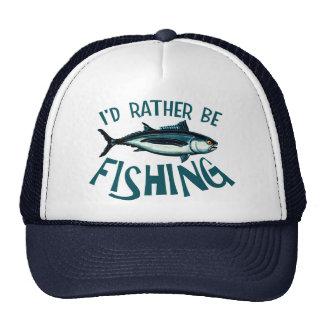 Rather Be Fishing Mesh Hats