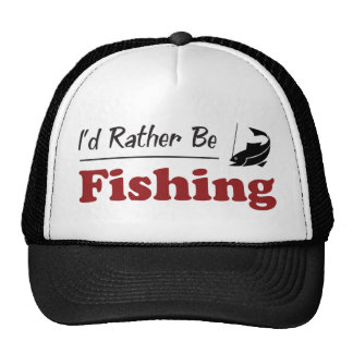 Rather Be Fishing Mesh Hat