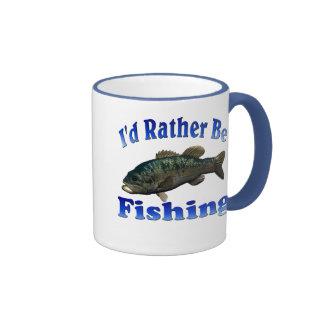 Rather Be Fishing Ringer Mug