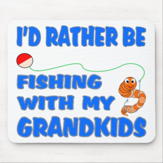 Rather Be Fishing With Grandkids Mouse Pads