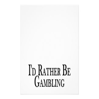 Rather Be Gambling Stationery Design