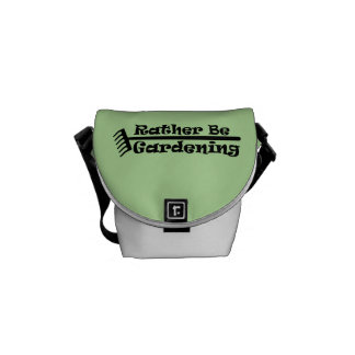 Rather Be Gardening Messenger Bags