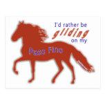 Rather Be Gliding Paso Fino Post Card