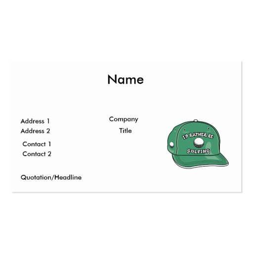 rather be golfing hat graphic business cards
