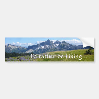 Rather Be Hiking Bumper Sticker