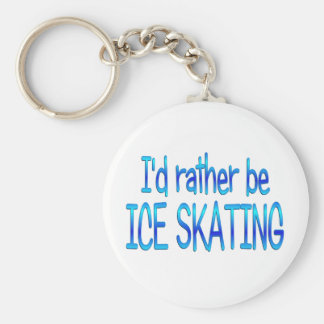 Rather be Ice Skating Basic Round Button Key Ring
