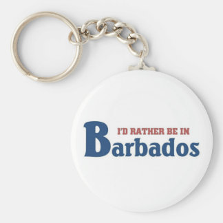 Rather be in Barbados Key Ring