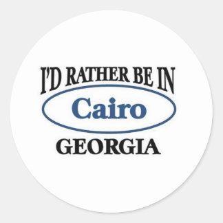Rather be in Cairo Georgia Round Sticker