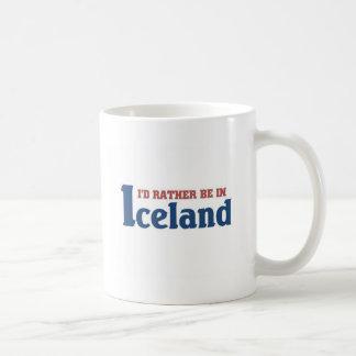 Rather be in Iceland Basic White Mug