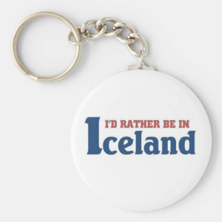 Rather be in Iceland Key Ring