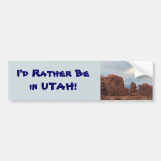 Rather Be in Utah Bumper Sticker
