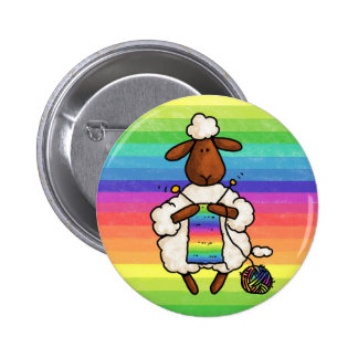 rather be knitting 6 cm round badge