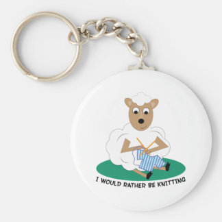 Rather Be Knitting Keychain