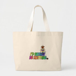 rather be knitting large tote bag