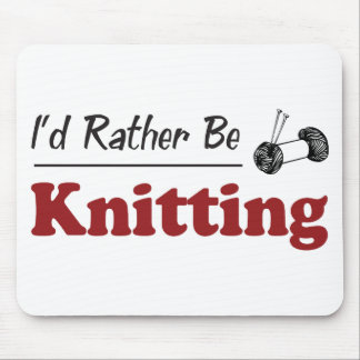Rather Be Knitting Mouse Mat