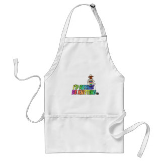 rather be knitting standard apron