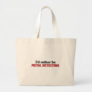 Rather be Metal Detecting Large Tote Bag