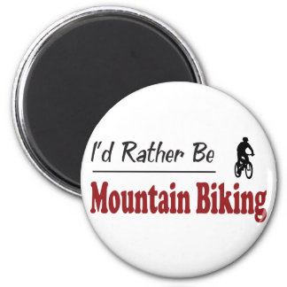 Rather Be Mountain Biking 6 Cm Round Magnet