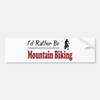Rather Be Mountain Biking Bumper Sticker