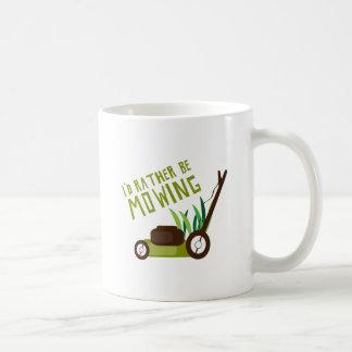 Rather be Mowing Basic White Mug
