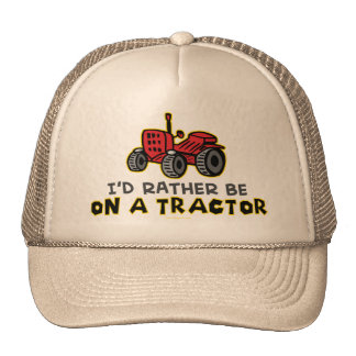 Rather Be On A Tractor Cap