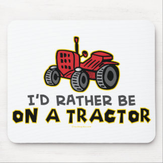 Rather Be On A Tractor Mouse Mat