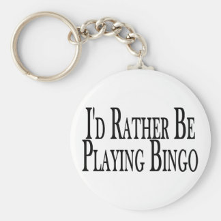 Rather Be Playing Bingo Key Chain