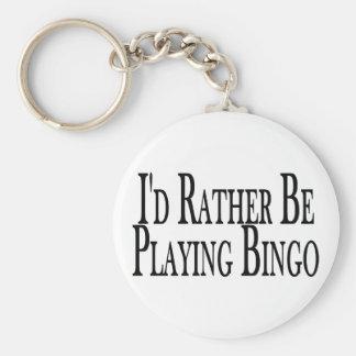 Rather Be Playing Bingo Key Ring