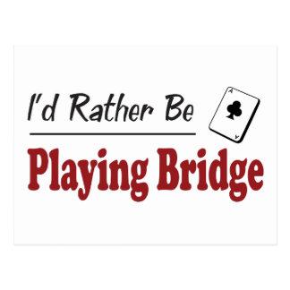 Rather Be Playing Bridge Postcard