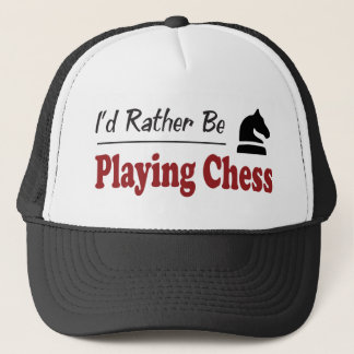 Rather Be Playing Chess Trucker Hat