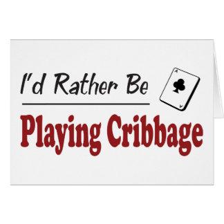 Rather Be Playing Cribbage Greeting Card