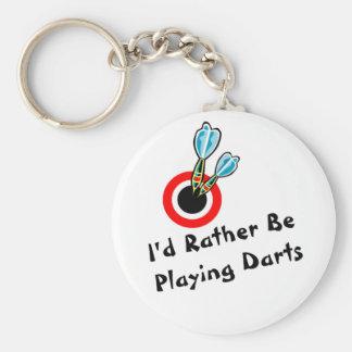 Rather Be Playing Darts Key Ring