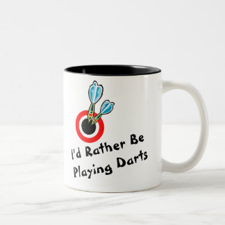 Rather Be Playing Darts Two-Tone Coffee Mug