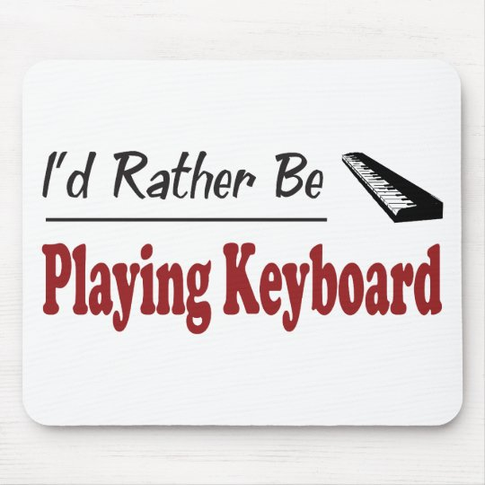 Rather Be Playing Keyboard Mouse Pad