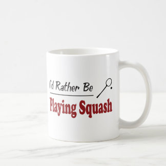 Rather Be Playing Squash Basic White Mug
