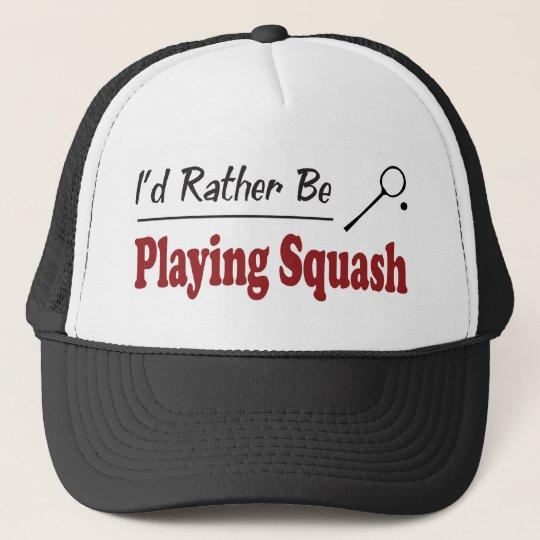 Rather Be Playing Squash Cap