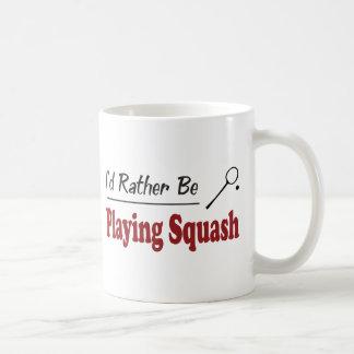 Rather Be Playing Squash Coffee Mug