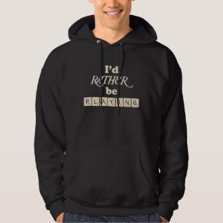 Rather Be Playing - text and tiles Hoodie