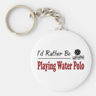 Rather Be Playing Water Polo Basic Round Button Key Ring