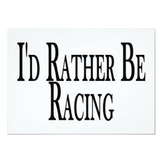 Rather Be Racing 13 Cm X 18 Cm Invitation Card